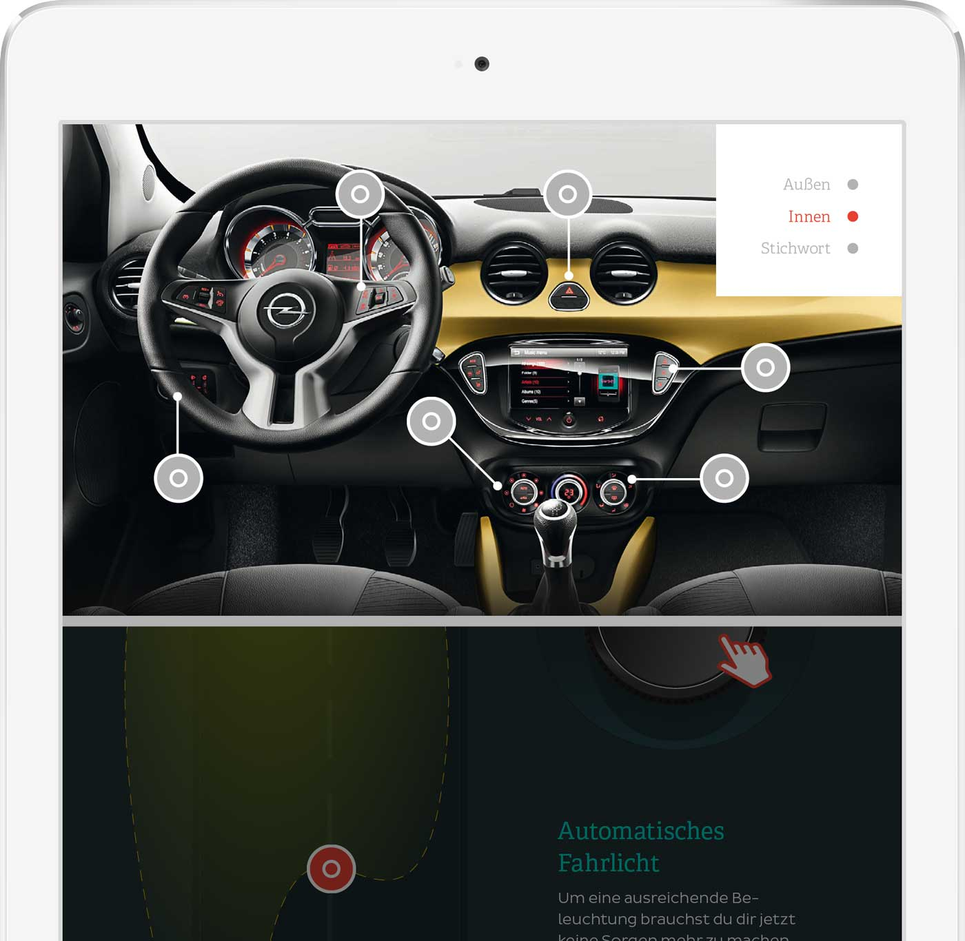 ADAM App Screenshot Navigation